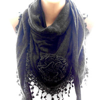 Brown scarf, winter scarf, scarves for women, cozy scarf, trendy scarf