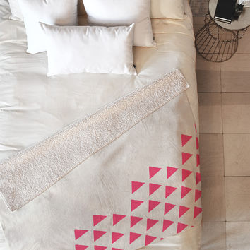 Allyson Johnson Pink Triangles Fleece Throw Blanket