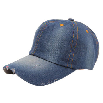Best Deal New Fashion Spring And Summer Men's Women's Jean Sport Hat Casual Denim Baseball Cap Sun Hat Gift 1PC