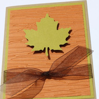 Fall Thanksgiving Cards- Autumn, Leaves