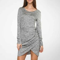 Love & Lust Gray Tulip Wrap Dress - Lucky Duck Boutique