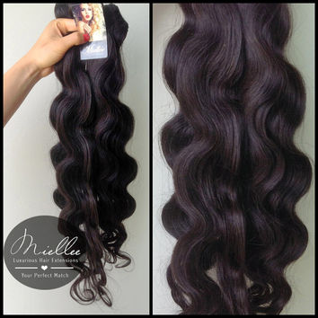 Clip In Hair Extensions / Virgin Brazilian Hair / Wavy Texture / DYE OR BLEACH to any shade /10 Piece Clip In Set
