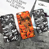 Hot Camouflage Stussy Print Iphone 6 6s Plus /7 7 Plus / 8 8 Plus/X Cover Case
