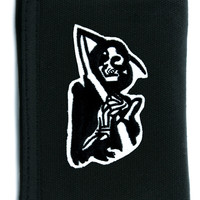 Grim Reaper Death Tri-fold Wallet w/ Chain Occult Clothing