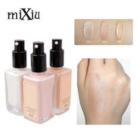 MIXIU Brand Luminous Brighten Liquid Foundation Make Up Face Perfect Base Makeup Create 3D Contour Highlighter 3 Colors Optional