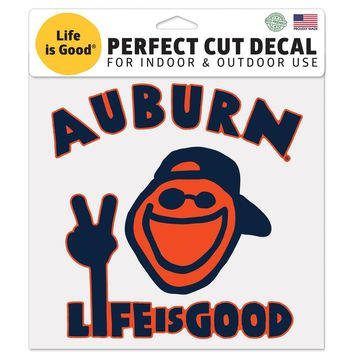 "Licensed Official NCAA 8"" x Life is Good Automotive Car Decal 8x8 Wincraft KO_19_1"