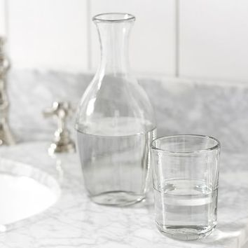 RECYCLED GLASS WATER CARAFE WITH TUMBLER