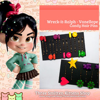 Wreck It Ralph Vanellope Hair Pins