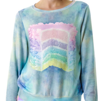 Wildfox Couture Dreaming of Cake Baggy Beach Jumper Multi