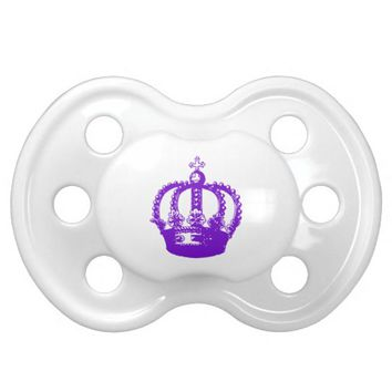 Royal Purple Queen Crown Pacifier