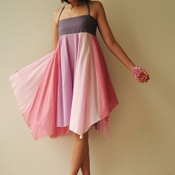 UmbrellaPink Tone Cotton dress by aftershowershop on Etsy