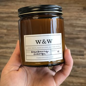 Limited Edition Cranberry Orange – 9 oz Pure Soy Wax Candle