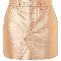 MOTO Rose Gold Metalic Skirt | Topshop