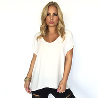 Simple Living Blouse In Ivory