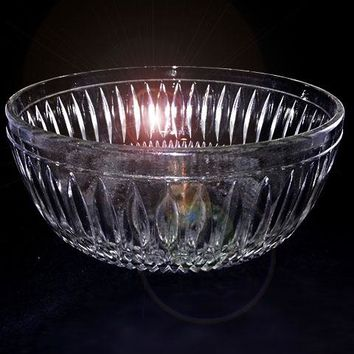 Large Vintage Glass Serving Bowl