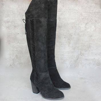 Sbicca   Gusto   Over The Knee Suede Leather Boots   Black