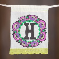 """H""  Mini  Inspiration  Flag  From  Natural  Life"