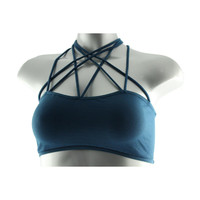 Free People Womens Bella Cochella Strappy Pull On Bralette