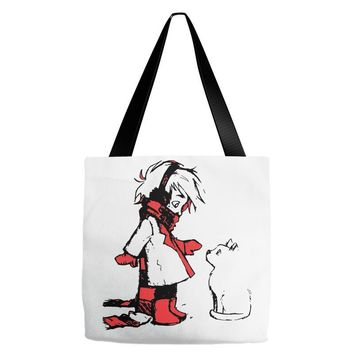 winter boy Tote Bags