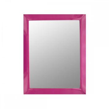 Pink Rectangular Wall Mirror