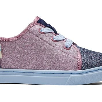 TOMS - Tiny Toms Lenny Elastic Multi Blocked Glitter Sneakers