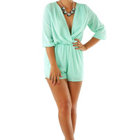 All You're Waiting For Romper: Aqua