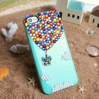 Up Colorful Rhinestone Handmade Case For iPhone 5/5S