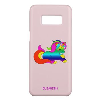 Cute Kawaii Rainbow Unicorn Cartoon Style Case-Mate Samsung Galaxy S8 Case