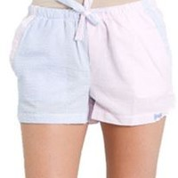 Fraternity Collection Seersucker Lounge Shorts PNKSHORT