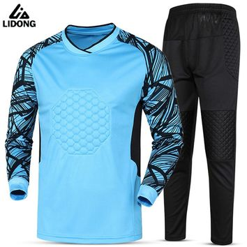 Soccer sets goalkeeper jerseys men football Survetement tracksuit goal keeper uniforms goalie sports training pants DIY Custom