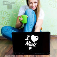 I Love Niall One Direction Laptop Decal by stickypic