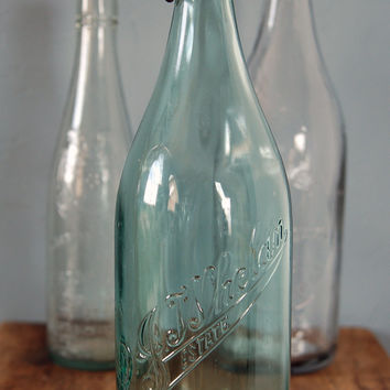 Vintage Rare Green D.J. Whelan Estate Soda Bottle