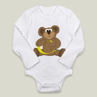 Bernardo The Teddy Bear Embracing The Letter C Long-Sleeve Onesuits by OneArtsyMomma on BoomBoomPrints
