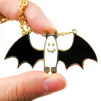 Adorable Bat Shaped Animal Cartoon Pendant Necklace | Limited Edition