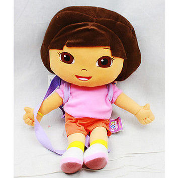 """Nickelodeon Dora the Explorer 18 """" Plush Figure Backpack Tote- NEW with Tags!"""