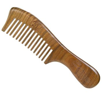 Natural Sandalwood Handmade Wide Tooth Comb Wooden Massage Combs Anti-static Hair Styling Care Tools Health Care Comb