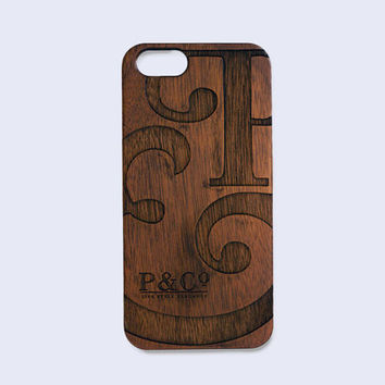 Chestnut Wooden P&Co phone case