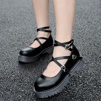 High-Q Unisex Japan Anime Lolita Shoes Casual Preppy Girls Female Lady Cosplay Lolita Student Uniform Shoes