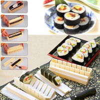 1Set DIY Sushi Maker Rice Mold Kitchen Sushi Making Tool Set Pack of 11,Sushi mold,Cooking tools,Set for Sushi Roll