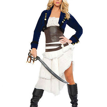 Deluxe Colonial Pirate Costume | Sexy Clothes Womens Sexy Dresses Sexy Clubwear Sexy Swimwear | Flirt Catalog