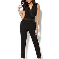City Crepe - Tuxedo Jumpsuit - New York & Company