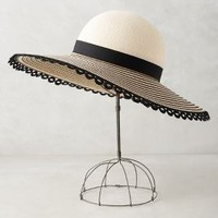 Eugenia Kim Honey Sun Hat in Black Motif Size: One Size Hats