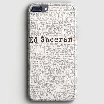 Ed Sheeran Tumblr iPhone 8 Plus Case | casescraft