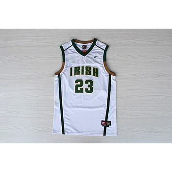 High School Jerseys St. Vincent-St. Mary High School STVM Fighting Irish #23 LeBron James White