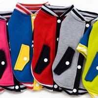 Autumn Winter Fashion Pet Dog Puppy Clothes Apparel Cute Warm Hoodies Sweater Two Leg Sweater Baseball Jacket Uniform = 1931548164