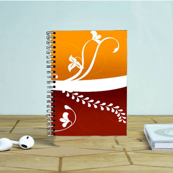 Autumn Plants Horizontal Vector Photo Notebook Auroid