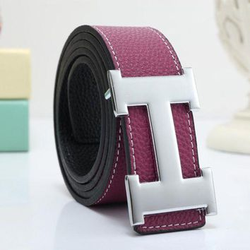 DCCKV3X Hermes Woman Men Fashion Smooth Buckle Belt Leather Belt