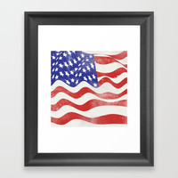 United States Flag - USA Framed Art Print by All Is One