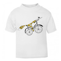 Fox bike t-shirt, unisex kids tee, bicycle lover