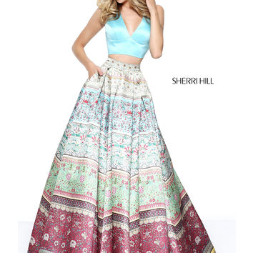 Sherri Hill 50792 Printed Skirt Formal Prom Dress